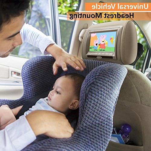 Mount, DVD Player, LCD Screen, Car Monitor, Transmitter, Video Player, Headrest Remote Control, Gray