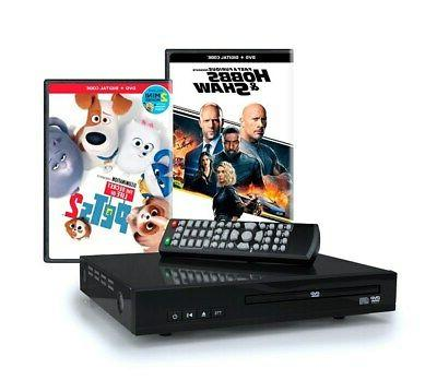 Home DVD Player with 2 DVD Movies (Hobbs & Shaw and The Secr