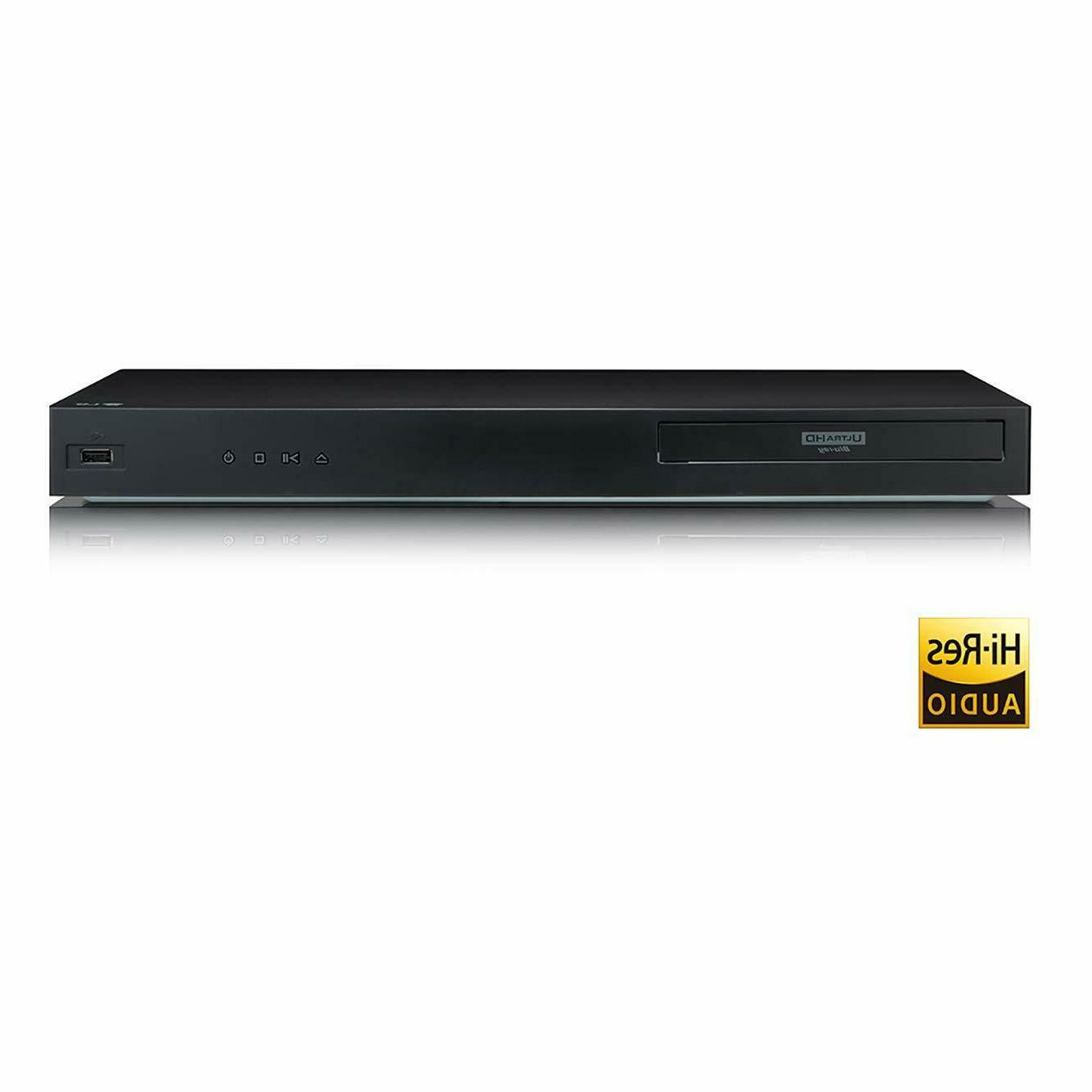 LG UBK80 Blu-ray Player with HDR Compatibility
