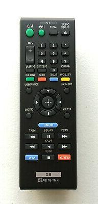 NEW Sony Replacement DVD Blu-Ray Player Remote RMT-B119A for