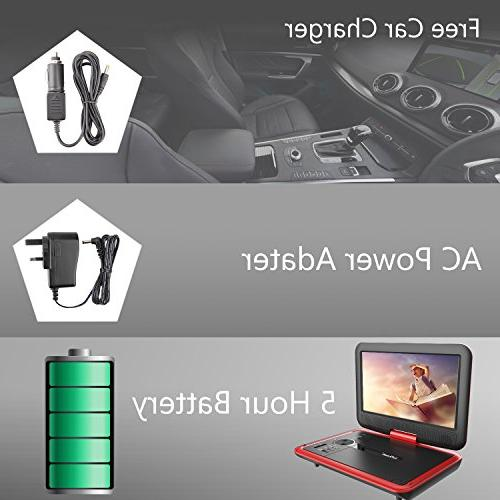 """ieGeek 11.5"""" Player Swivel screen, 5 Rechargeable Battery, Support USB/SD Card,"""