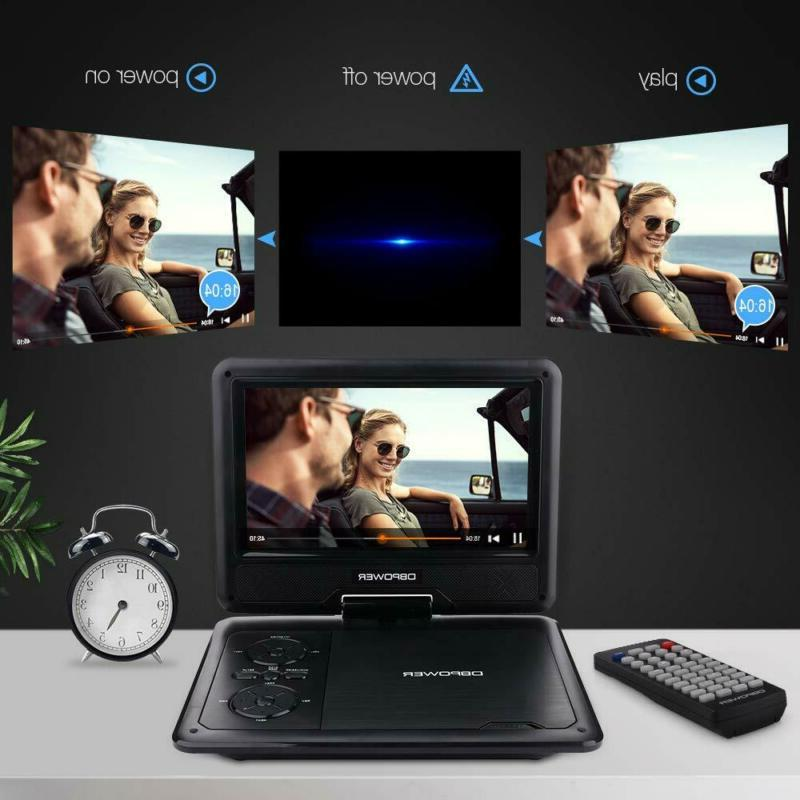 """DBPOWER Portable DVD Player with 9.5"""" 5-Hour Built-in Rechargeabl"""
