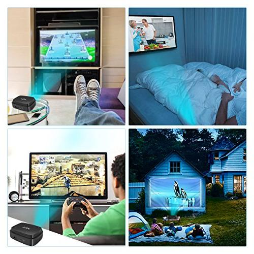 HD Home Theater Projector 1280x800 Native LED with Lumens, Support HDMI, AV, Input Smartphone, Player