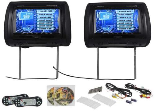 Rockville RTSVD961-BK 9 Black Touchscreen Dual DVD/HDMI Car