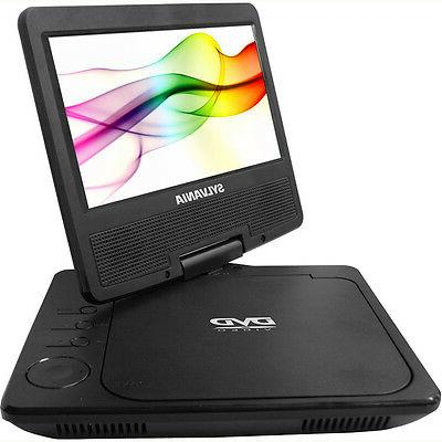 "Sylvania SDVD7078 Portable Player 7"" Swivel Screen, Black"