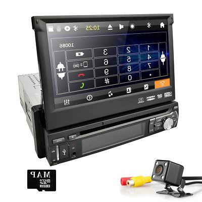 """Single 1 Stereo DVD Player In-Dash GPS RDS 7"""" HD Screen Bluetooth`"""