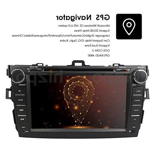 hizpo Toyota 2008 Car Player Inch Touch Stereo FM Mirrorlink, Optional DAB+ / TMPS