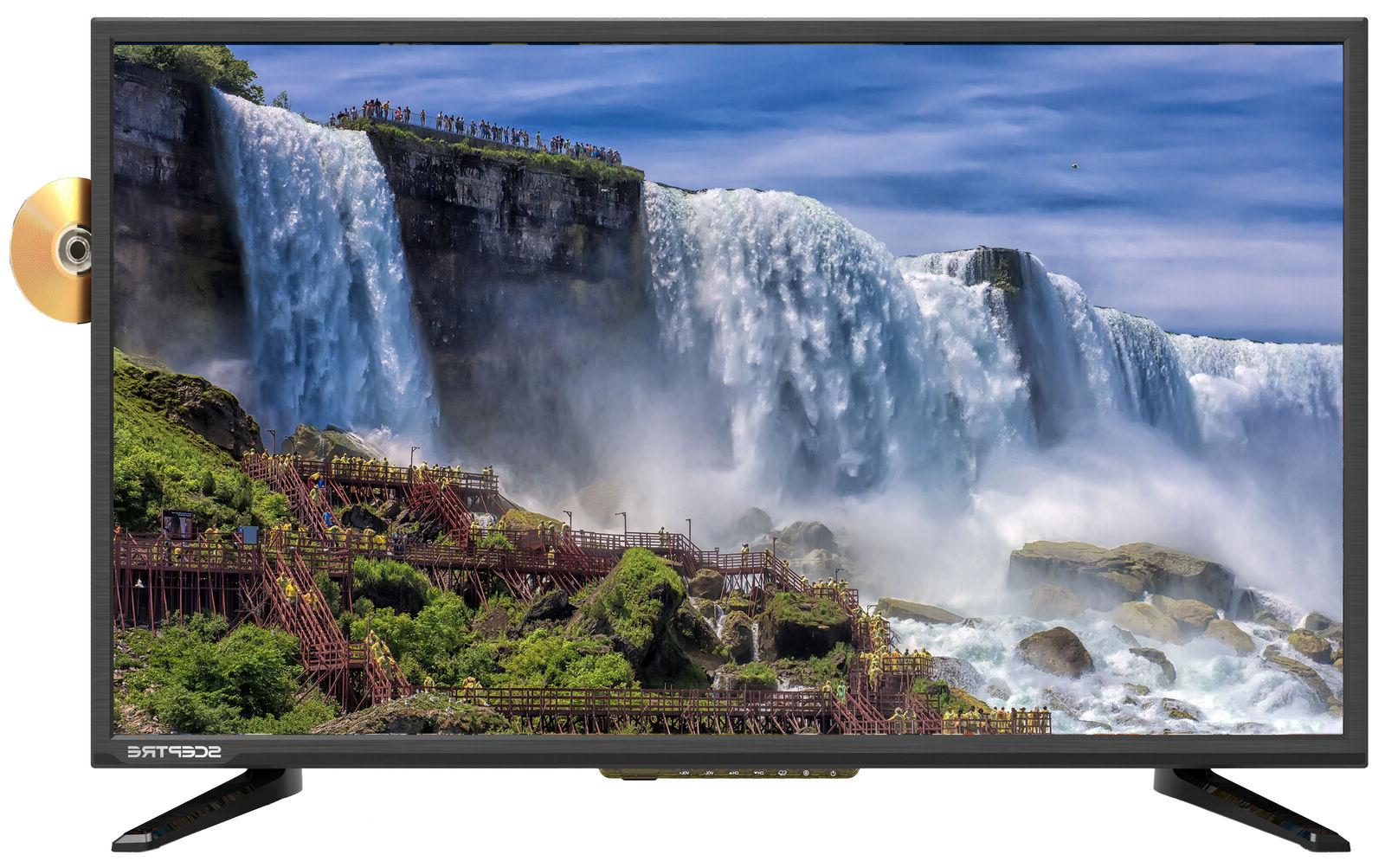 "TV FULL HD w/Built-in DVD Player Sceptre 32"" LED 1080P FHDTV"