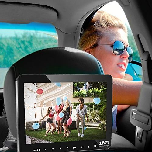 Pyle PLHRDVD103 Vehicle Mount CD/DVD Player Car Video Display Monitor