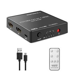 LANGREE 4K HDMI Switch 4 X 1, With PIP  and IR Wireless Remo