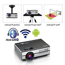 Mini Wireless HDMI Projector Portable Home Theater Smart Wif