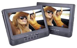 "New 10.1"" Dual Screen DVD CD Players USB/SD Mount Kit Remote"