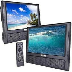 "New RCA Mobile Car Dual Screen DVD Player 9"" Portable AV CD"