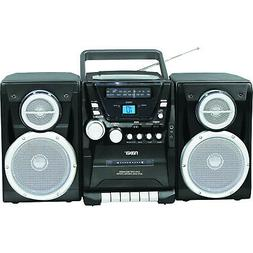 Naxa Npb426 Portable CD Player With Am/Fm Radio, Cassette &