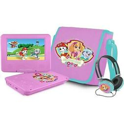"""Paw Patrol 7"""" Portable DVD Player with Carrying Bag and Head"""