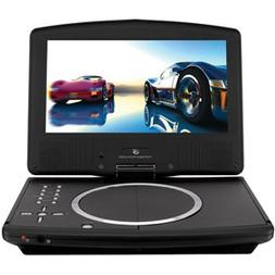 """GPX PD908B 9"""" TFT Black Portable DVD Player with Remote Cont"""