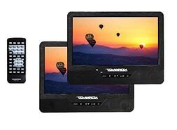 "Koramzi PDVD-DK95 Portable 9"" Dual Screen  with Rechargeable"