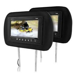 """Pyle PL71PHB Headrest Pair with Built-in 7"""" TFT-LCD Monitors"""