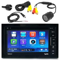 Pyle PLDN63BT 6.5 Touch Screen Display Car CD DVD USB Blueto