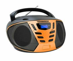 portable cd boombox with am/fm radio,aux in, top loading cd