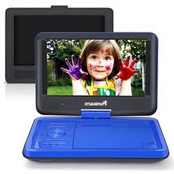 """9"""" Portable DVD Player for Kids with Car Headrest Mount Hold"""