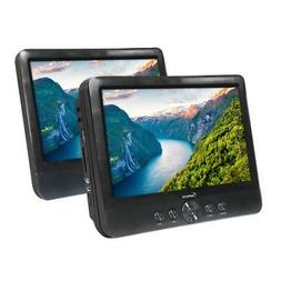IMPECCA Portable DVD Player 10.1 Dual Screen Media Player wi