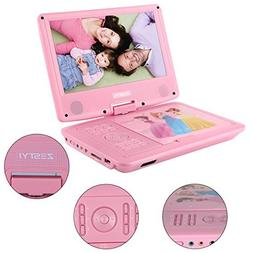 "ZESTYI 9"" Portable DVD Player for Kids with Car Headrest Mou"