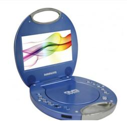 7-Inch Portable DVD Player with Integrated Handle, Blue
