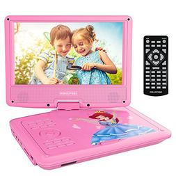 DBPOWER Portable DVD Player with 9.5'' Swivel Screen, Suppor