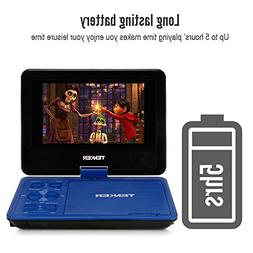 """TENKER 7.5"""" Portable DVD Player with Swivel Screen, Recharge"""