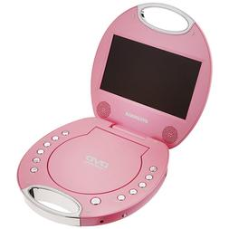 Portable DVD Player with Integrated Handle in Pink