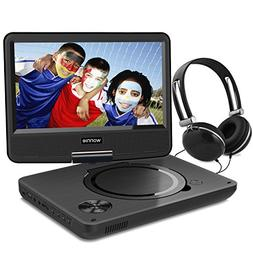 WONNIE 9.5 Inch Portable DVD Player, Best Gift for Kids