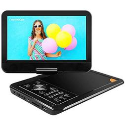 APEMAN 9.5'' Portable DVD Player with Swivel Screen Remote C