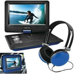 "Ematic 10"" Portable DVD Player with Headphones and Car Headr"