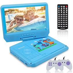 WONNIE 9.5 Inch Kids Portable DVD Player for Car with Games