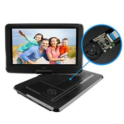 """Portable DVD Player, SYNAGY 14"""" Personal DVD Player for Car"""