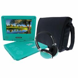KORAMZI 7 inch Portable DVD Player with Rechargeable Battery