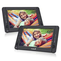 "NAVISKAUTO 10.1"" Portable DVD Player Dual Screen Car Headres"