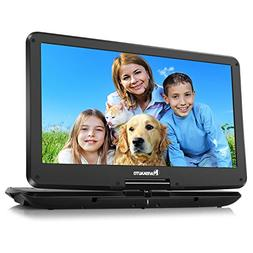 NAVISKAUTO 15.6 inch HD Portable DVD Player with Wide IPS LC