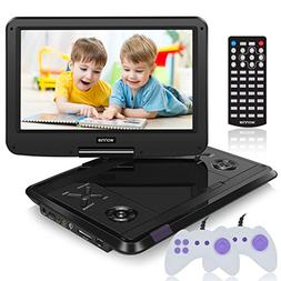WONNIE 13.6 Inch Portable DVD Player for Kids Built-in 60 Ki