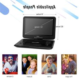 """TENKER 12.1"""" Portable DVD Player with Swivel Screen, Recharg"""