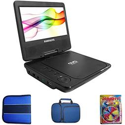 portable dvd player swivel includes