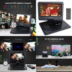 """Dbpower Portable Dvd Player With 9.5"""" Swivel Screen, 5-Hour"""