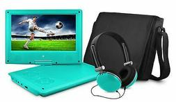 Portable DVD Player with 9-inch LCD Swivel Screen Travel Bag
