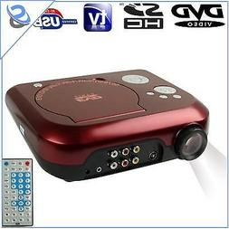 Portable Video Projector DVD Player TF Card 10 Lumens 10-80