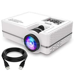 "Projector, WONNIE Mini Projector 2200 Lumens 170"" Display 70"