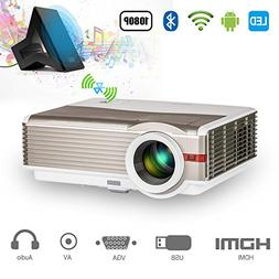 Smart Wireless 4200 Lumen Bluetooth HD Projector Android WiF