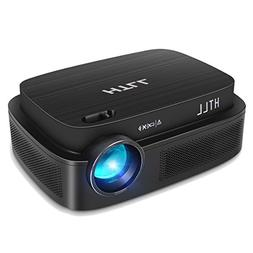 HD Video Projector, HTLL Home Theater Projector with 1280x80