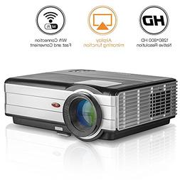 "HD Movie Projector Android Wireless, 5.8"" TFT LCD LED Video"