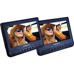 "Sylvania SDVD1010 10.1"" Dual Screen Portable DVD with USB Ca"